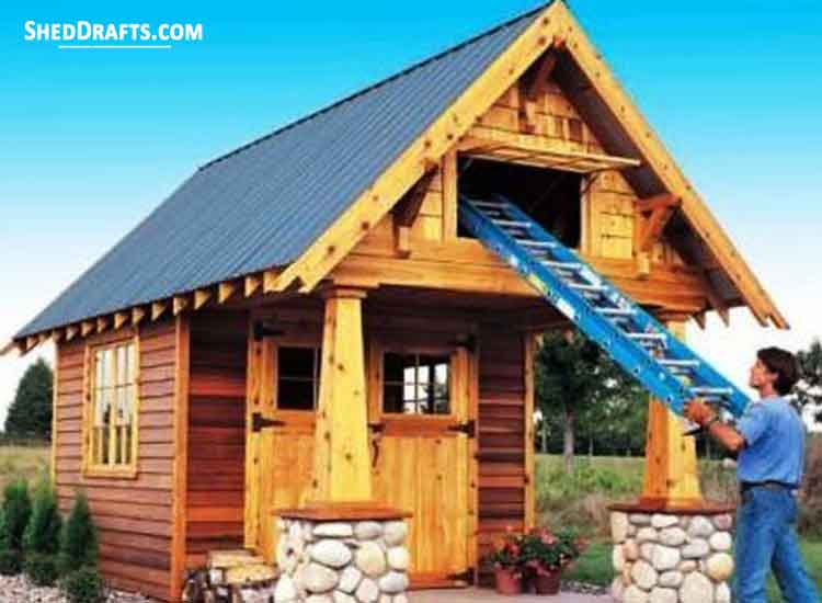 10 10 Storage Shed With Loft Plans Blueprints For Making An
