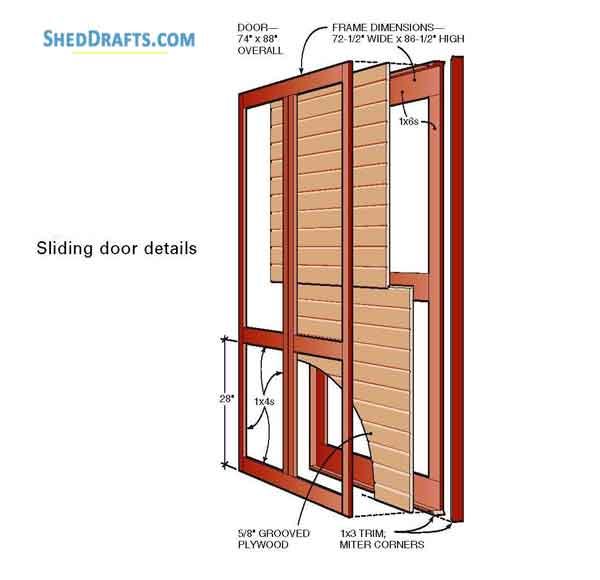 10×12 Backyard Storage Shed With Porch Plans & Blueprints