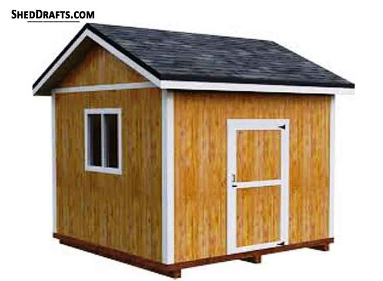 10x12 Gable Garden Storage Shed Plans Blueprints 00 Draft Design
