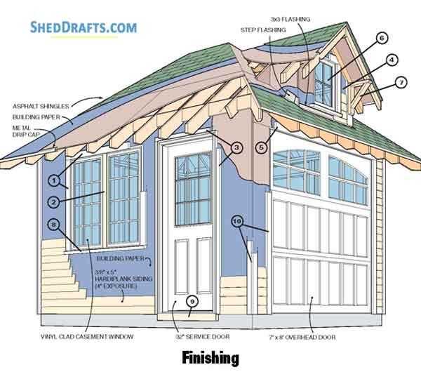 12 Hip Roof Storage Shed Dormer Plans