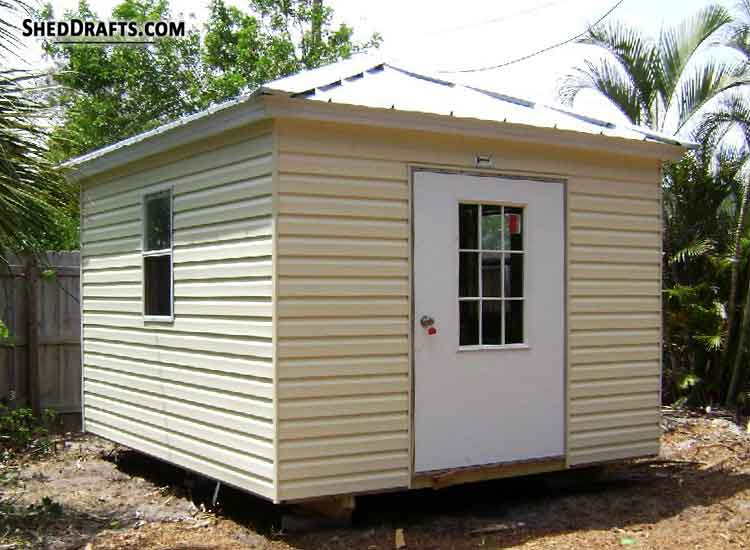 12 12 Hip Roof Storage Shed Plans Blueprints For Workshop