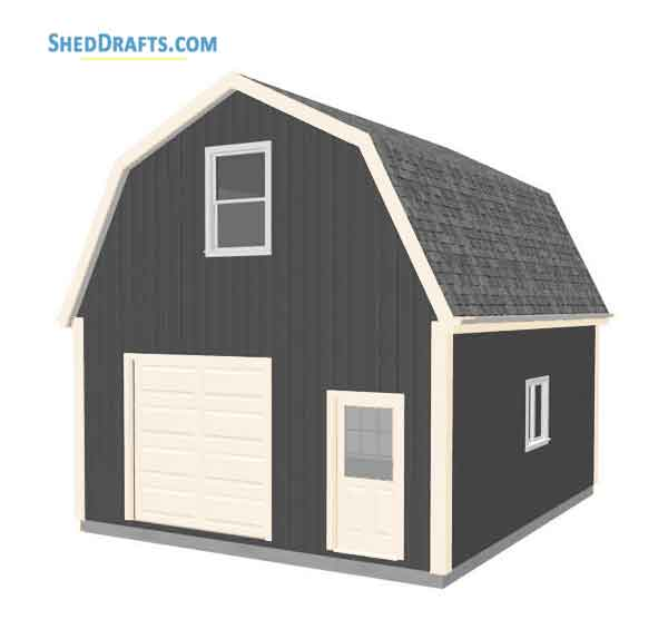 20 24 Gambrel Roof Barn Shed Plans Blueprints For Making Spacious Outbuilding