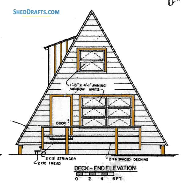 2424 A Frame Shed Plans Blueprints For Strong Timber Shed