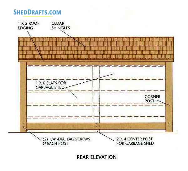 3×6 Lean To Firewood Shed Plans Blueprints For Storage Area