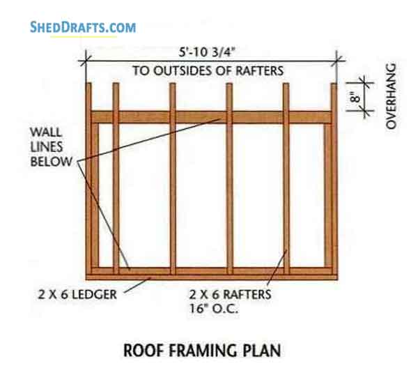 4×6 Lean To Roof Tool Shed Plans Blueprints For Potting Shed