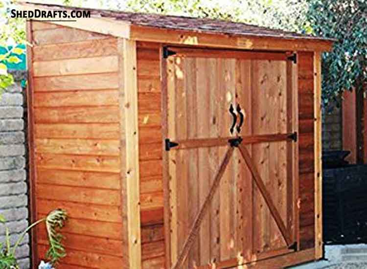 4 215 6 Lean To Roof Tool Shed Plans Blueprints For Potting Shed