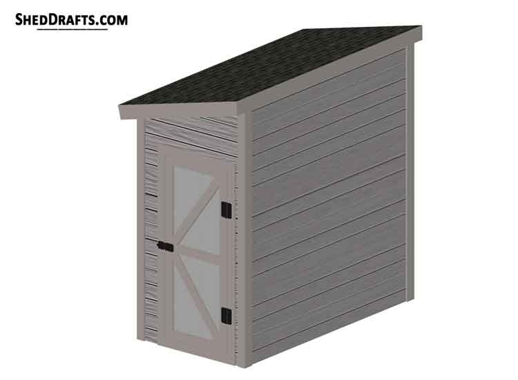 4×8 Lean To Tool Shed Plans Blueprints To Design Potting Shed