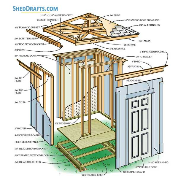 Hip Roof Shed Plans 6 6 Blueprints For Crafting Storage Shed