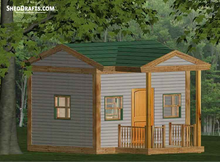 8 10 Gable Playhouse Shed Plans Blueprints For Erecting Utility Shed