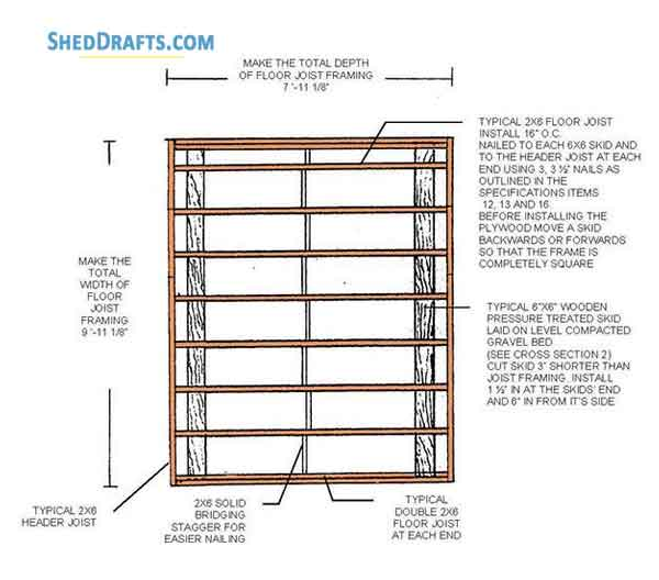8×10 Lean To Garden Shed Plans Blueprints For Beautiful Yard Shed