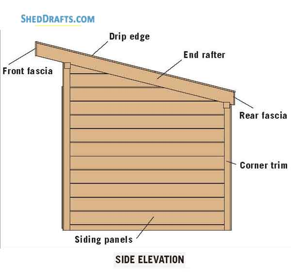 8 12 Slant Roof Utility Shed Plans Blueprints For Crafting A Tool Shed