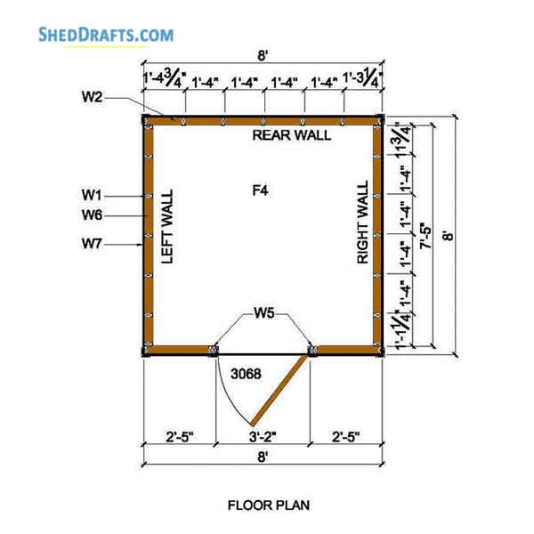 8 215 8 Lean To Storage Shed Plans Blueprints For Creating