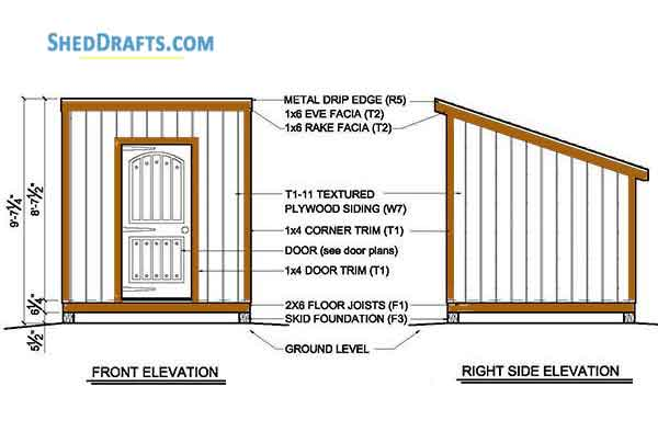 8 8 Lean To Storage Shed Plans Blueprints For Creating Garden Shed