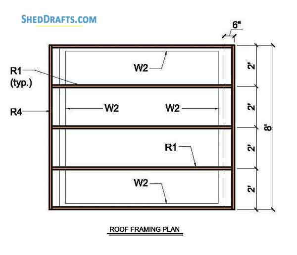 8×8 Lean To Storage Shed Plans Blueprints For Creating