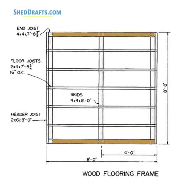 8 8 Lean To Utility Shed Plans Blueprints To Craft A Patio Shed