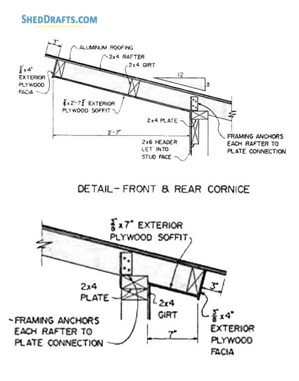 88 Lean To Utility Shed Plans Blueprints To Craft A Patio Shed