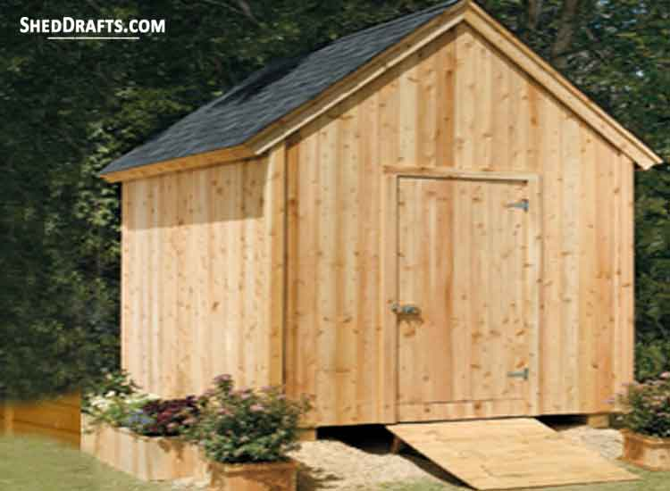 8×10 Garden Shed Plans & Blueprints For Building a Storage Shed on old garden shed, green shed, outhouse christmas, outhouse cedar shingle, 4x4 shed, grandmother house shed, types of siding for shed, tool shed,