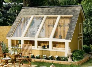 12 215 16 Gambrel Storage Shed Plans Blueprints For Barn Style